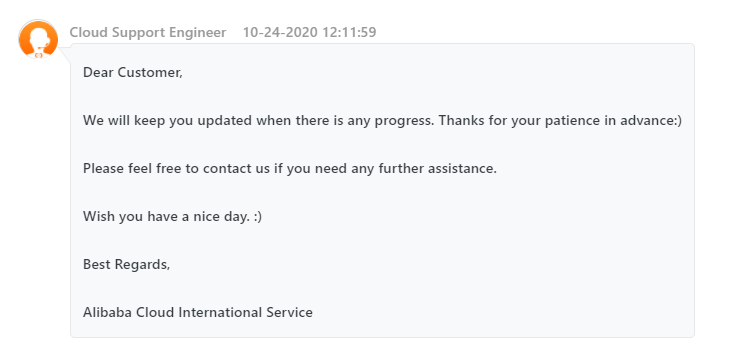 Alibaba Support 4